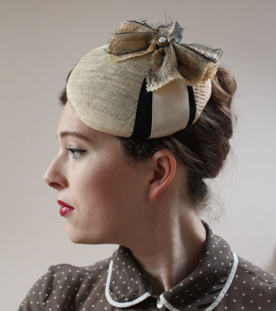 summer vintage pillbox hat