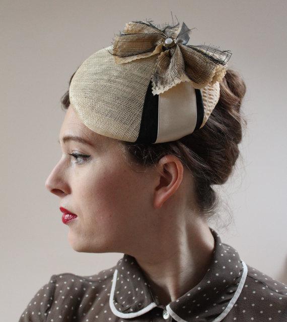 summer vintage pillbox hat