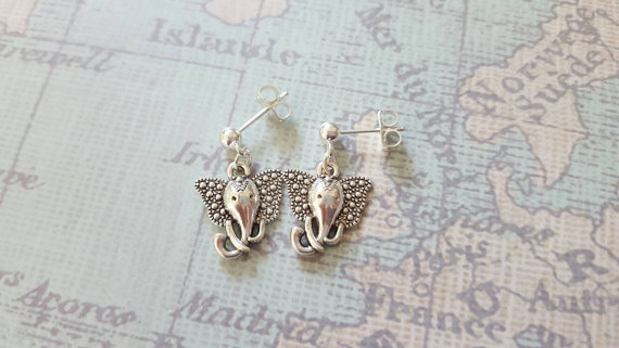 Tibetan Elephant Head Earrings