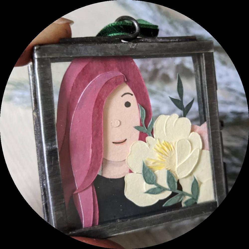 Paper Ink Alchemy - custom frame